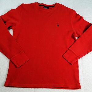 Polo Ralph Lauren Sleepwear Red Thermal Shirt Md